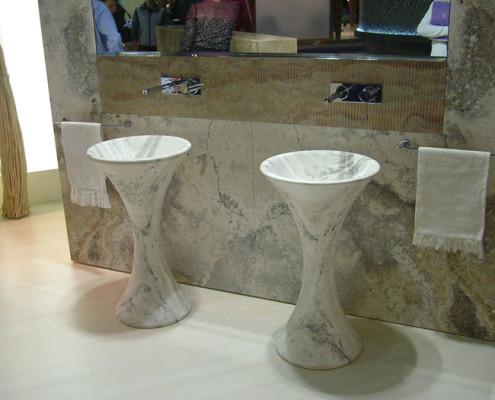 Lo Scalpellino marmista Castano Primo piatto lavabo bagno Legnano Busto Novara